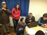 Haciendo ajustes previos. (De izquierda a derecha: Prof. José Luis Bobadilla Acosta, Iliana Ruiz, Samantha Ortega, Emilio Sánchez Pérez y Héctor Mejorado).